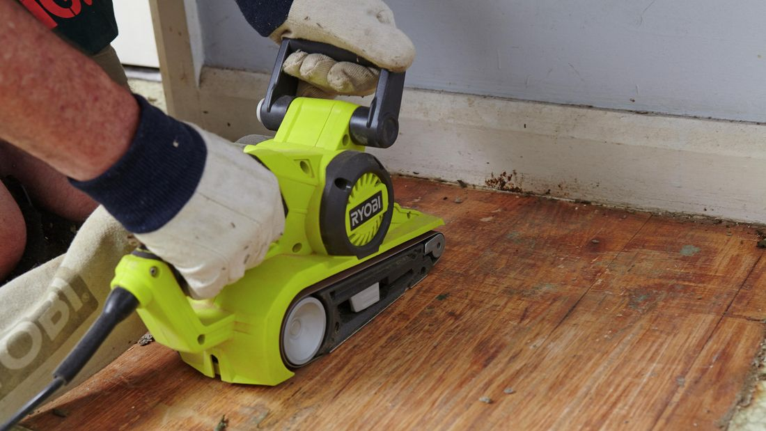 DIY Step Image - How to remove vinyl floor . Blob storage upload.