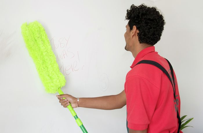 DIY Step Image - How to clean your walls. Blob storage upload.