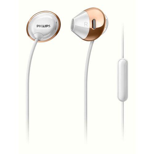 Philips SHE4205WT Flite Hyprlite Headphones/Headset w Mic White for MP3/Phone