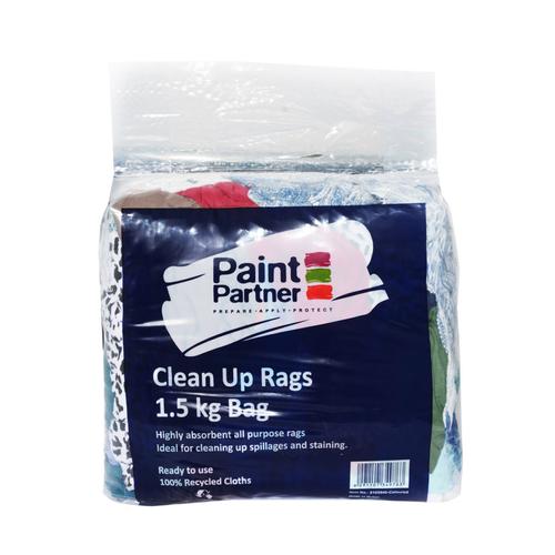 Paint Partner Coloured Clean Up Rags - 1.5kg Bag
