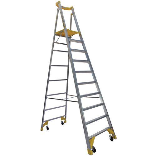 Bailey 170kg 10 Step Aluminium Job Station Platform Ladder
