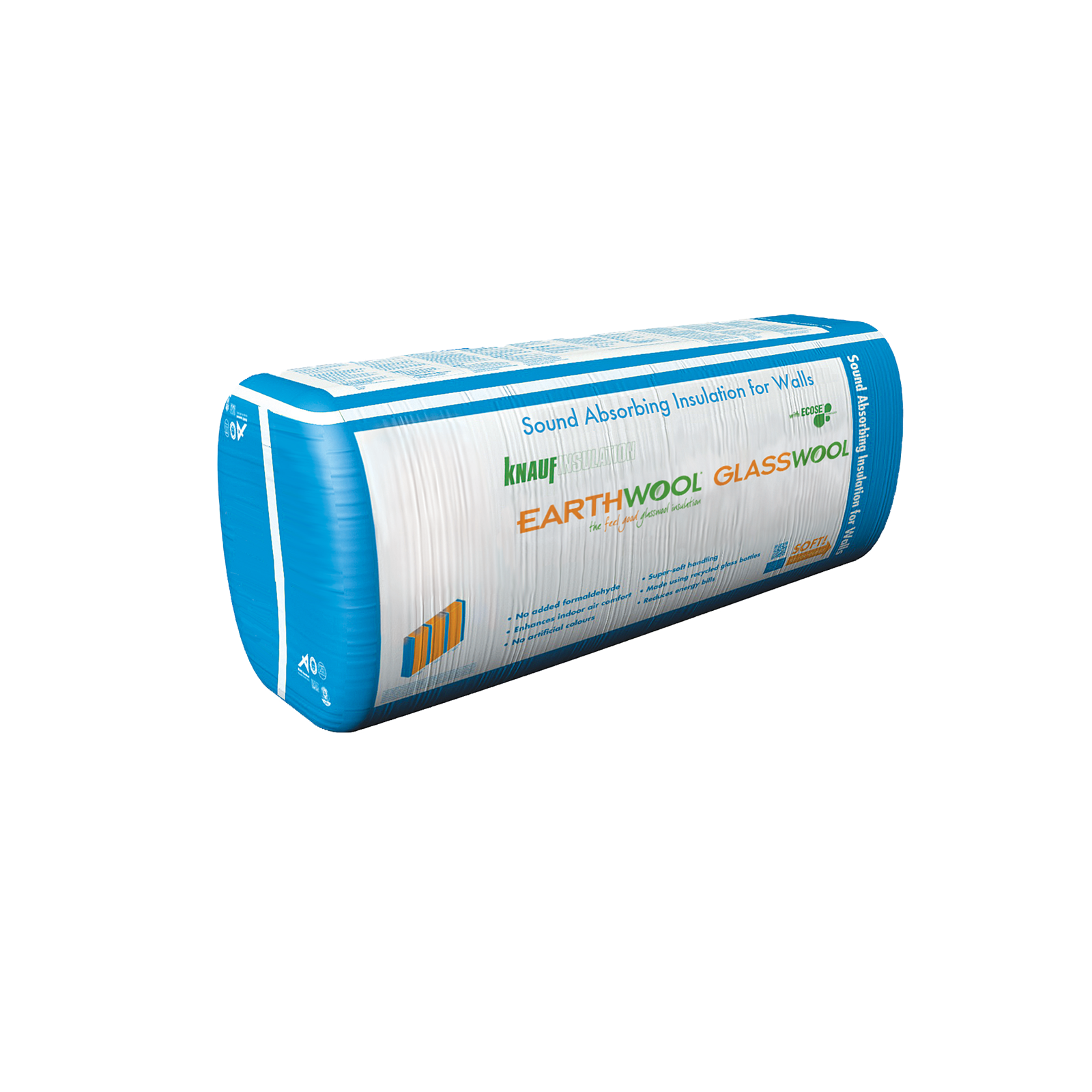 Earthwool glasswool R1.3 50mm x 600mm x 2700mm 32.40m² Acoustic Wall Insulation Batt - Pack Of 20