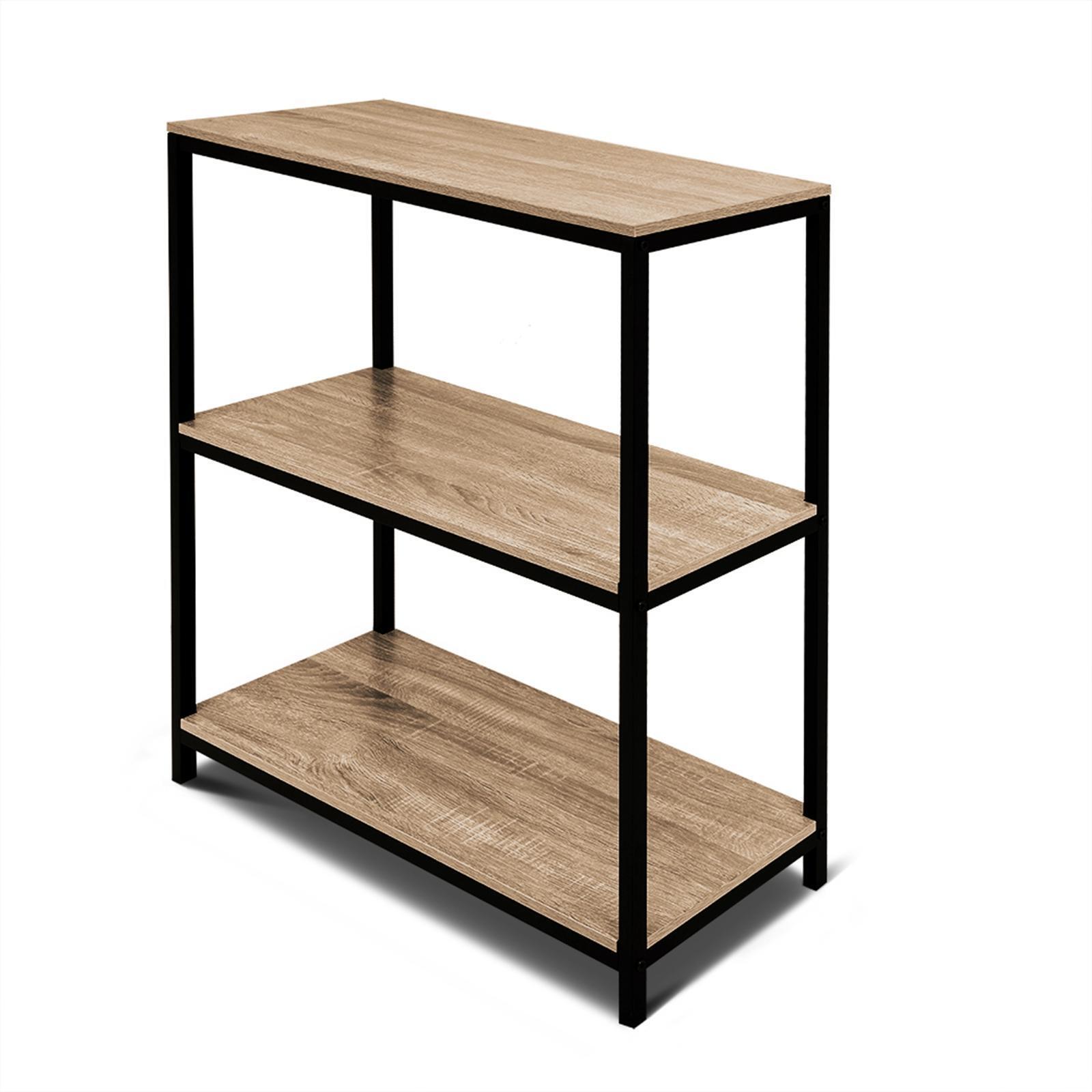 Rome Oak Industrial Style 20 Tier Storage Bookshelf