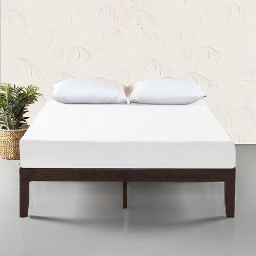 Zinus Mark Solid Wood Dark Brown Bed Frame - Single