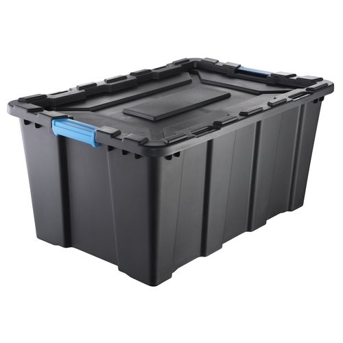 Inabox 100L Heavy Duty Black And Blue Storage Container