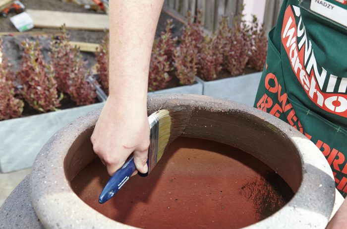 DIY Step Image - How to create a water feature . Blob storage upload.