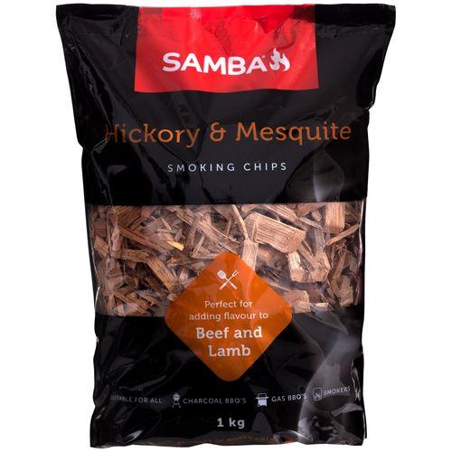Samba 1kg Smoking Chips - Hickory & Mesquite 1kg