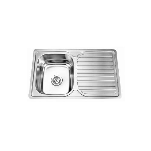 Picassi Perta100s Stainless Steel Single Bowl 1-Drain Sink
