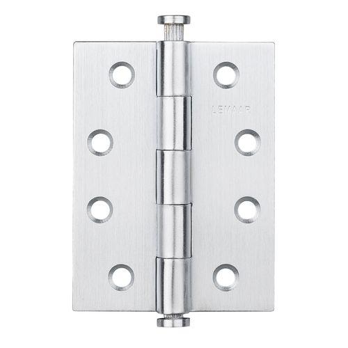 Lemaar 100 x 75 x 2.5mm Satin Stainless Steel Loose Pin Flat Tip Hinge