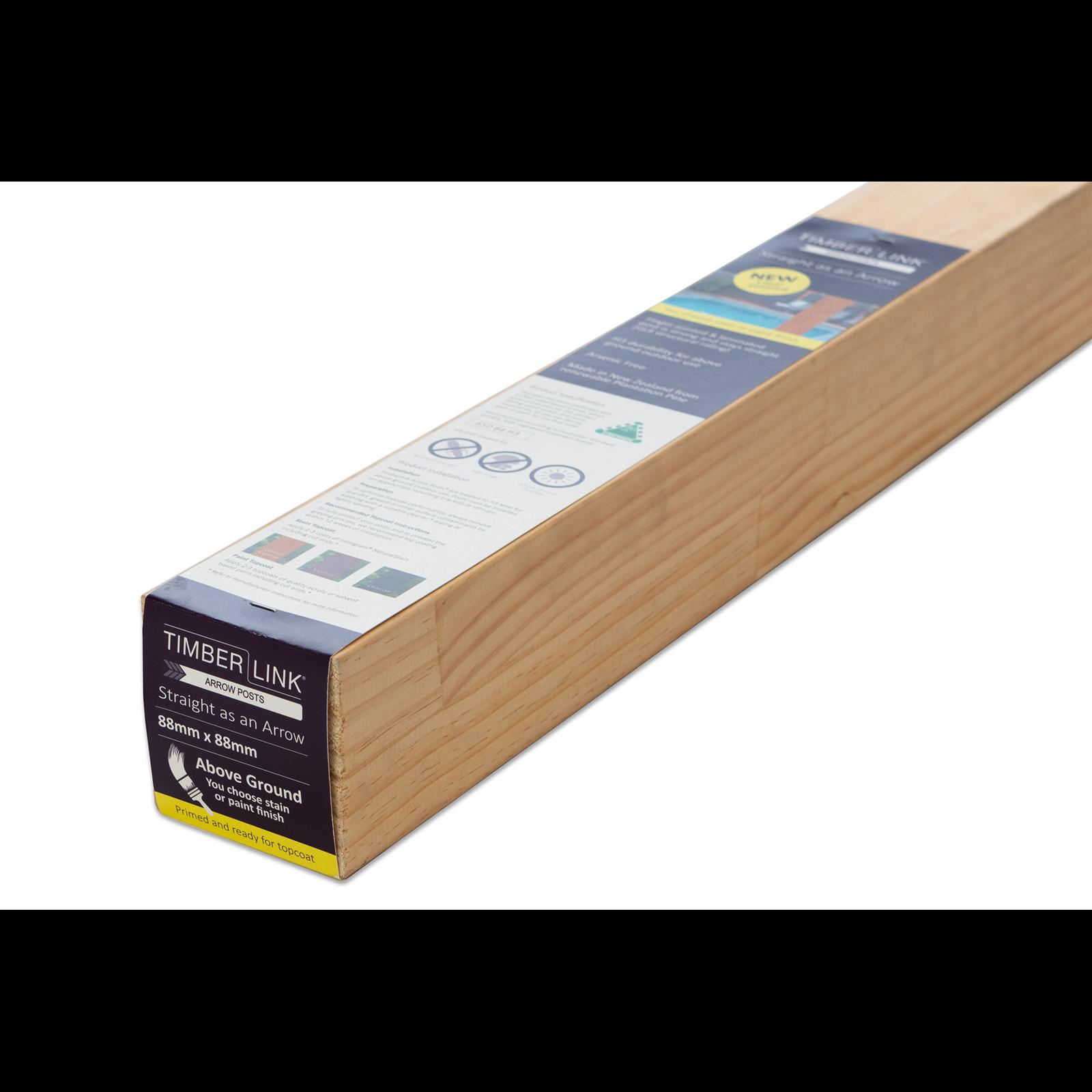 88 x 88mm 2.7m H3 KD Clear Primed FJ Laminated LOSP Pine Post