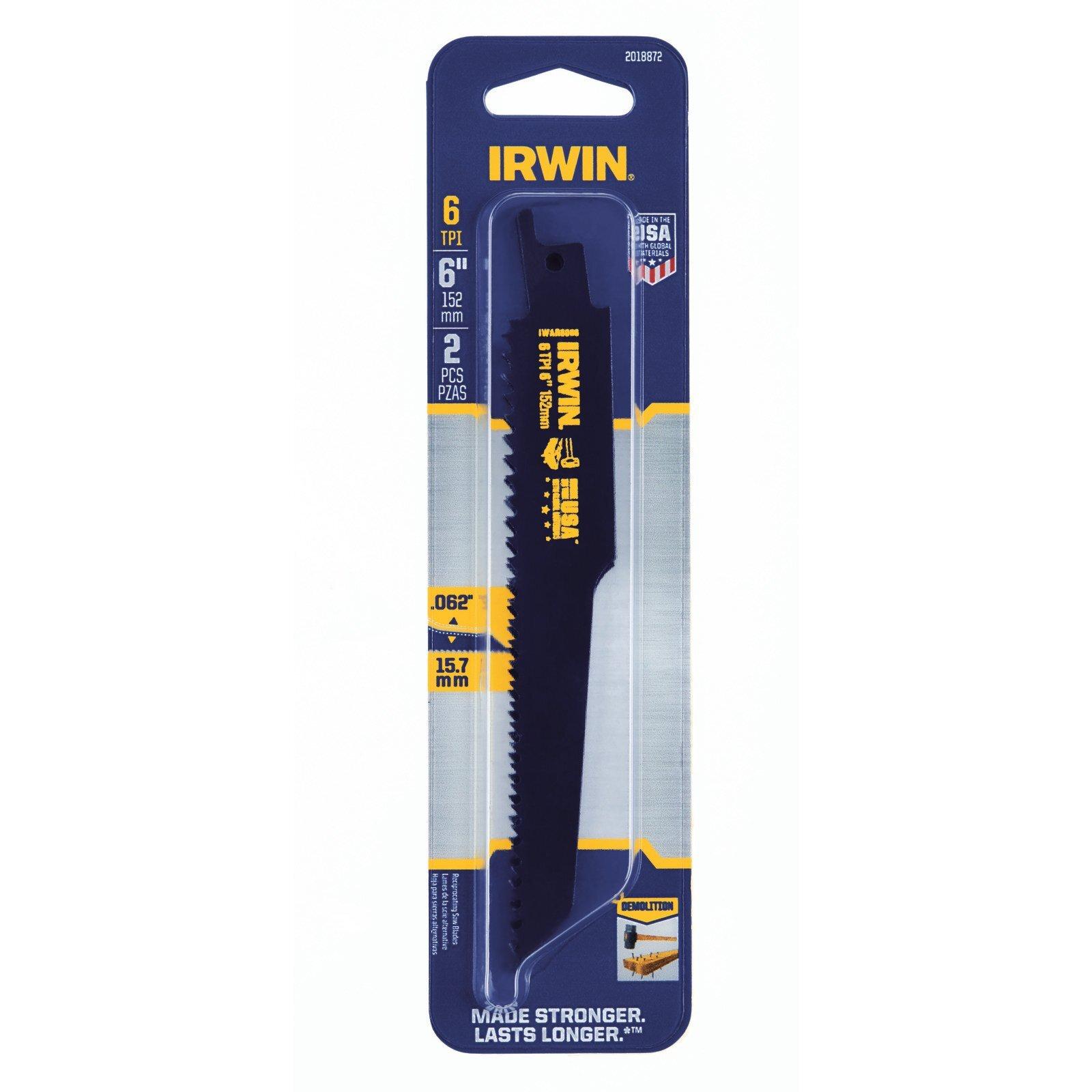 "Irwin 6"" 6TPI Demo Recip Blade - 2 Pack"