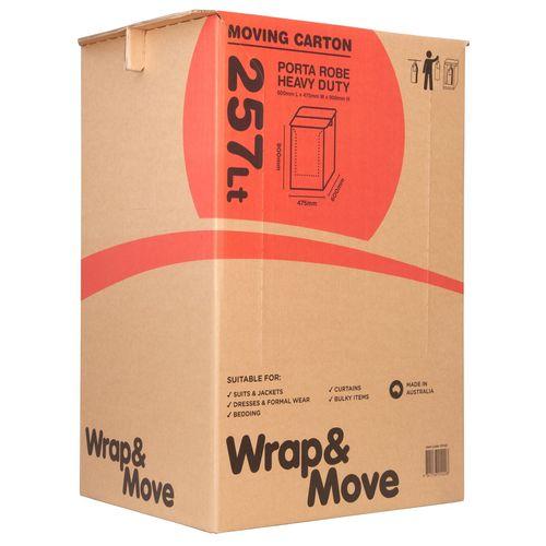 Wrap & Move 257L Heavy Duty Porta Robe Moving Carton