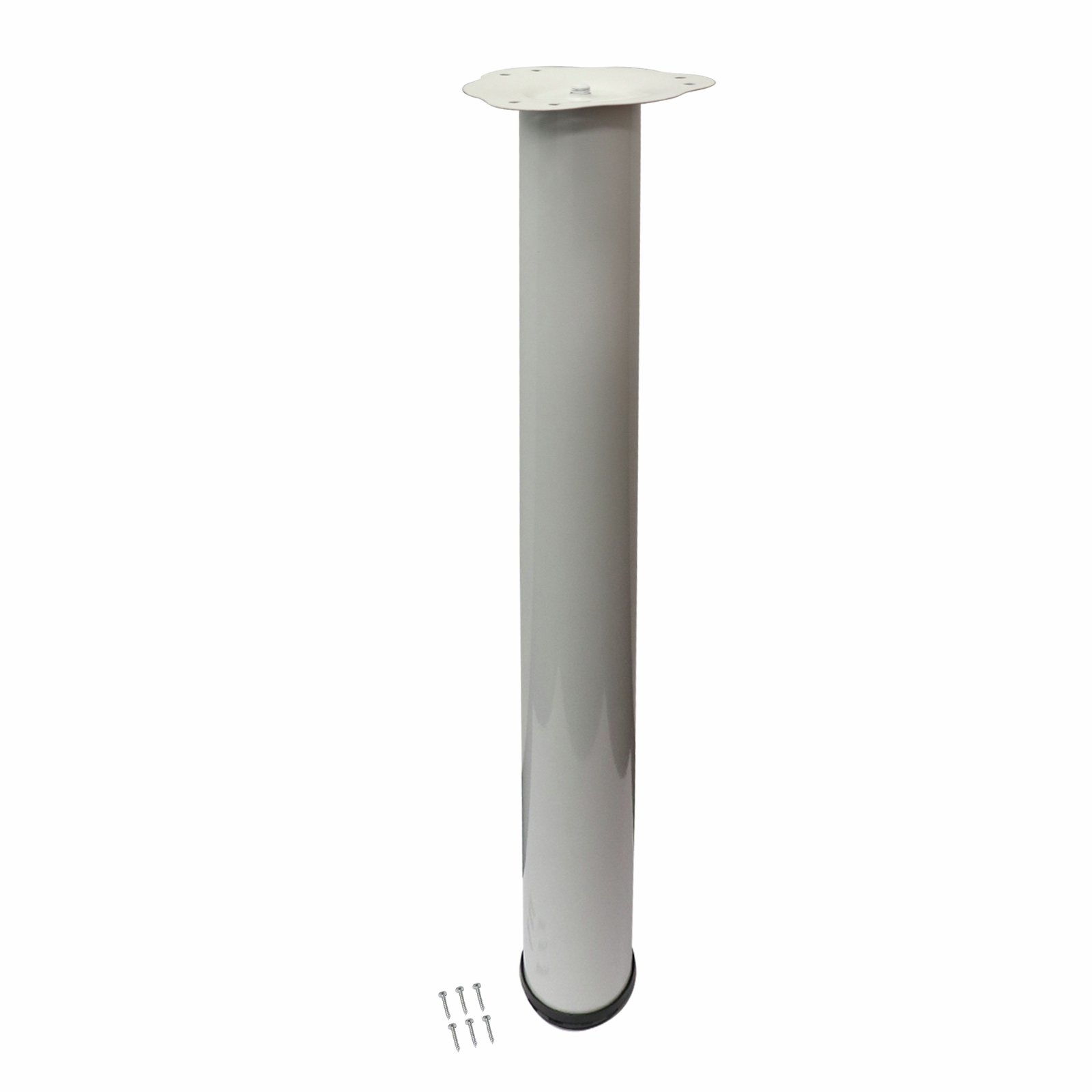 Adoored 60 x 710mm White Round Adjustable Table Leg