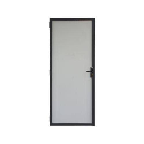 Pillar 2032 x 813mm Black Contemporary Steel Frame Metric Screen Door