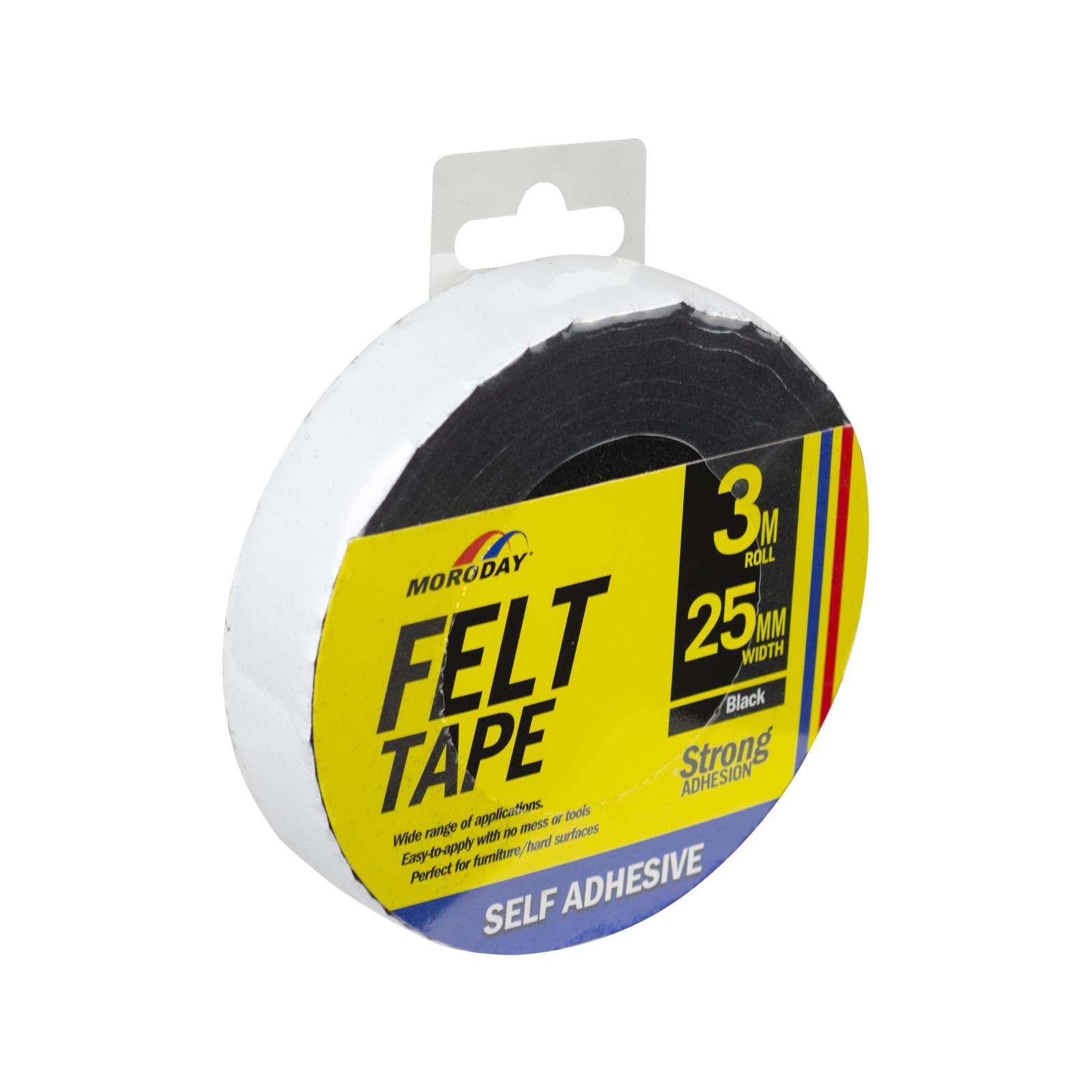 Moroday 25mm x 3m Felt Scratch Saver Self Adhesive Tape