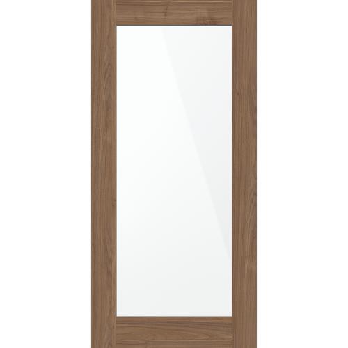 inBuilt 25mm 2100 x 1000mm Naples Walnut Shaker Double-Sided Mirror Barn Door