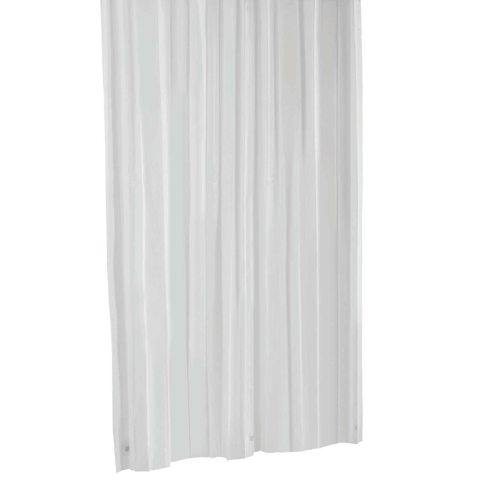 Barelli 180 x 180cm Frosting White Peva Shower Curtain
