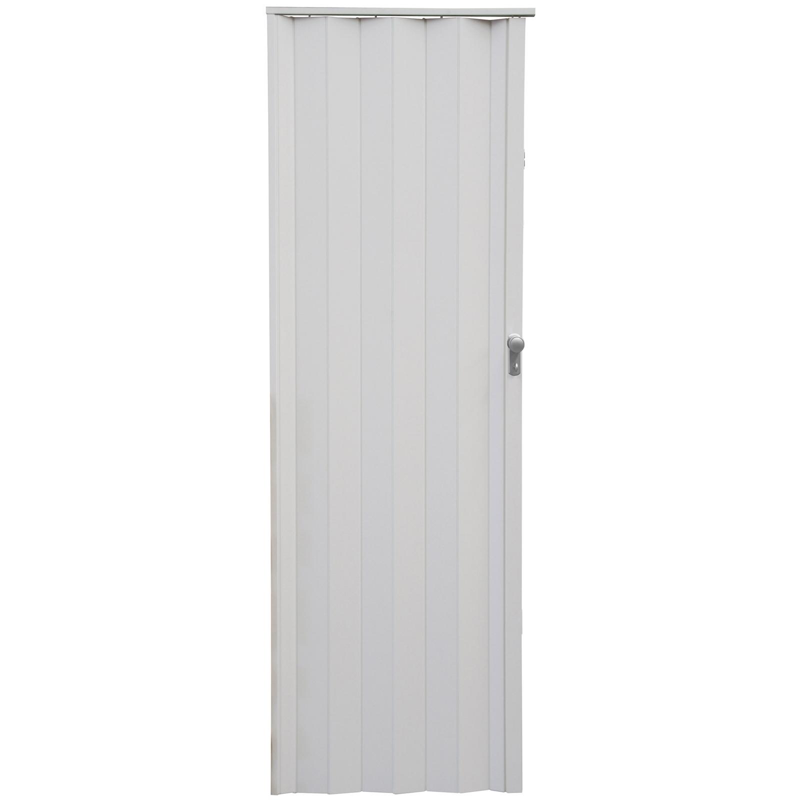 Pillar Products 82 x 240cm White PVC Havana Concertina Door