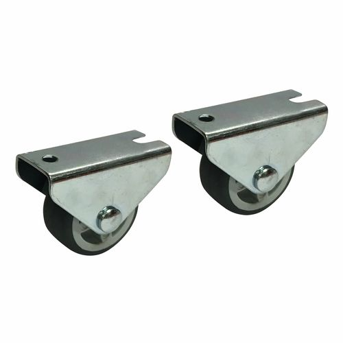 Move It 30mm 20kg Grey TPR On Polypropylene Fixed Plate Castor - 2 Pack