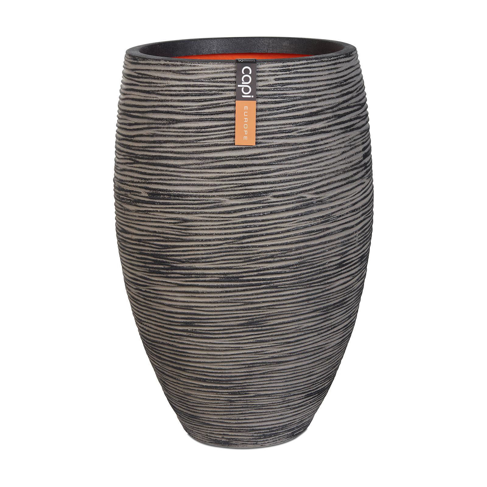 Capi 40 x 60cm Rib Elegant Deluxe Vase - Anthracite