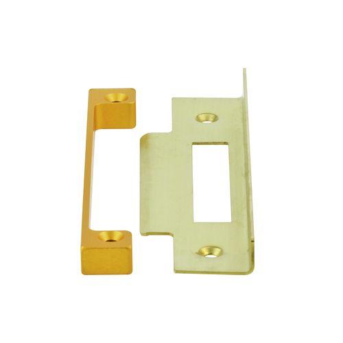 Sylvan  Polished Brass Rebate Kit - For 3 Lever Lock