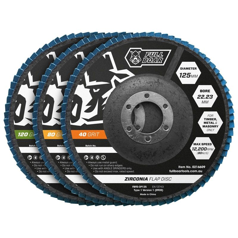 125mm Flap Disc 40/80/120 Grit