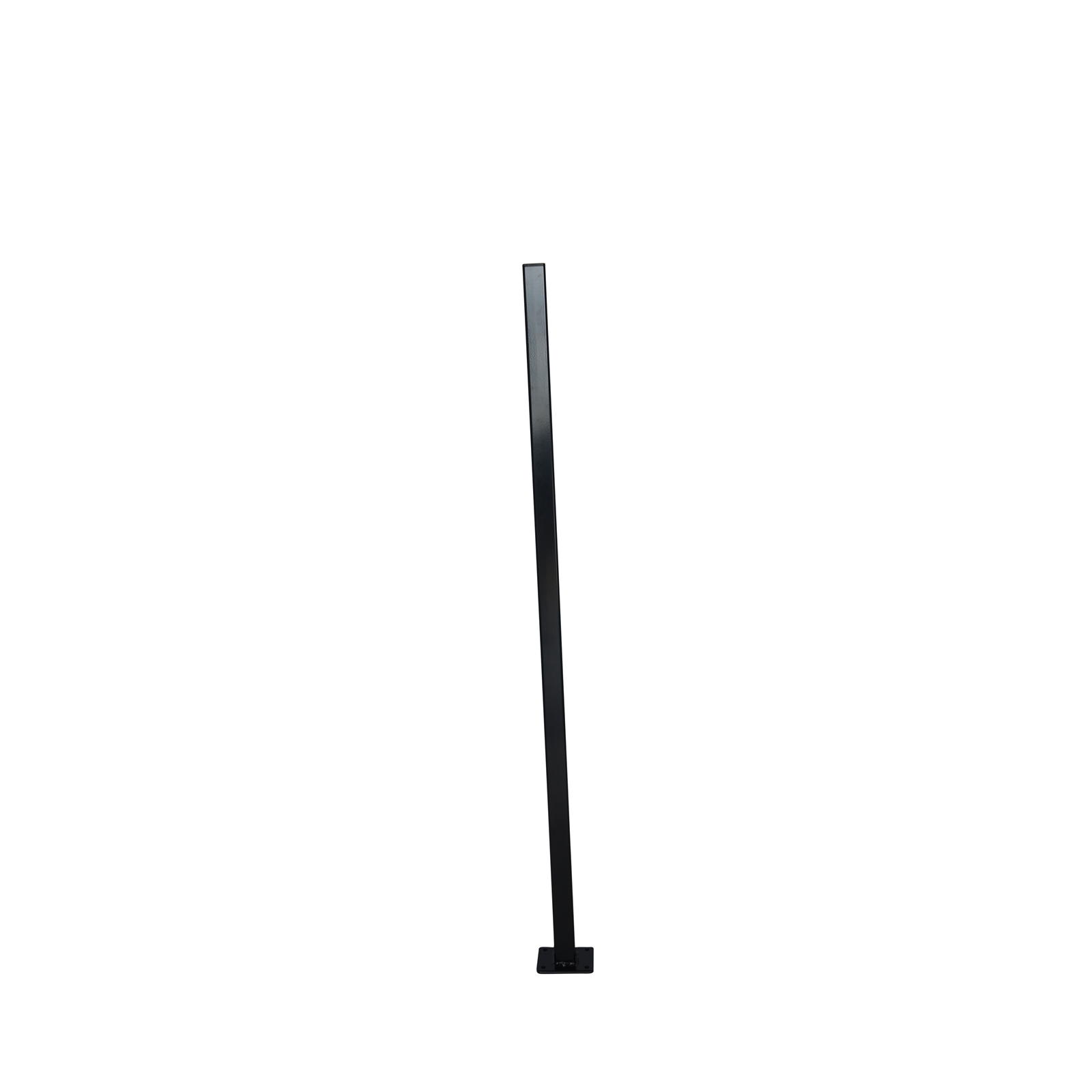 Protector Aluminium 50 x 50 x 1000mm Black Flanged Fence Post With Cap