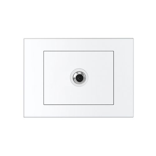 HPM VIVO 1 Gang TV Coaxial Outlet Only - White
