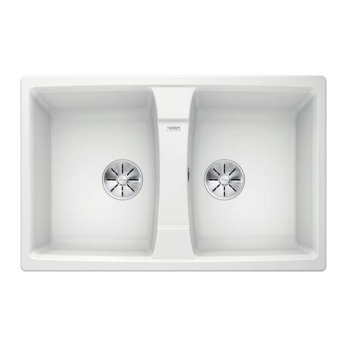 Blanco 80cm White Double Sink