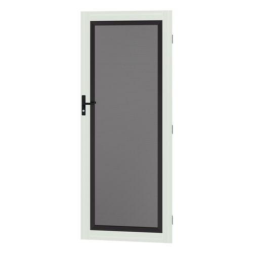 Protector Aluminium 808-848 x 2030-2070mm Adjustable Perforated Security Door - Surfmist