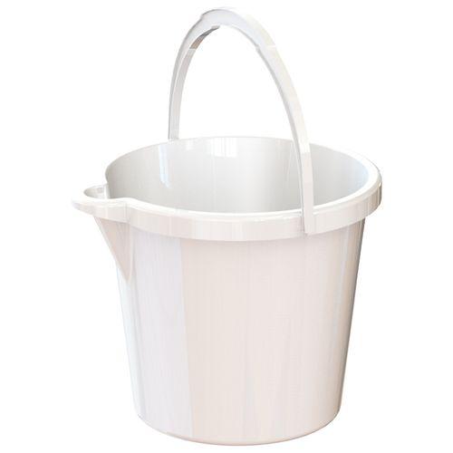 HomeLeisure 11L White Trend Bucket