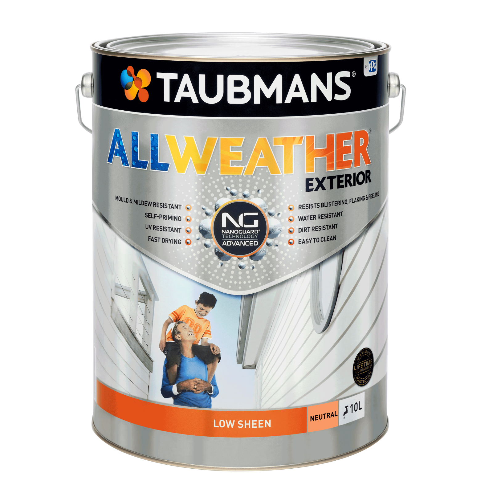 Taubmans 10L Neutral Low Sheen All Weather Exterior Paint