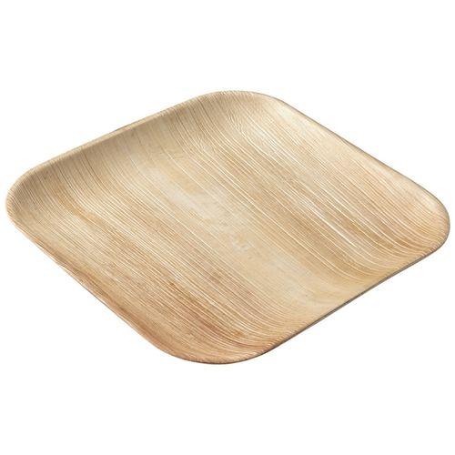 Ecosoulife Areca Nut Leaf 25cm Square Plate 5pcs