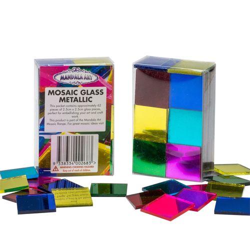 Mandala Art Original Assorted Metallic Craft Mosaic Glass Tiles
