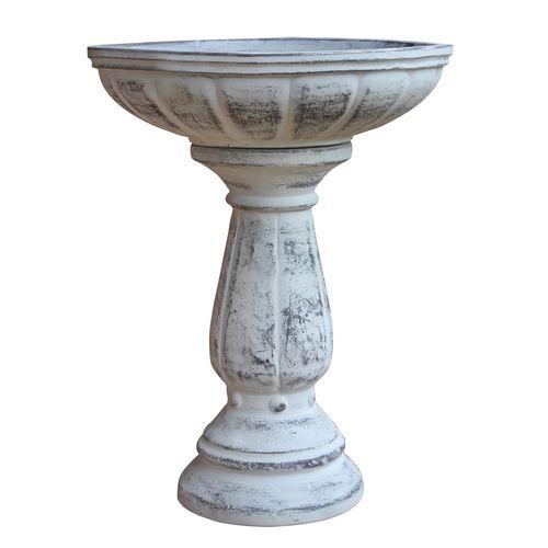 Northcote Pottery 37 x 47cm Cafestyle Villa Bird Bath - Antique White