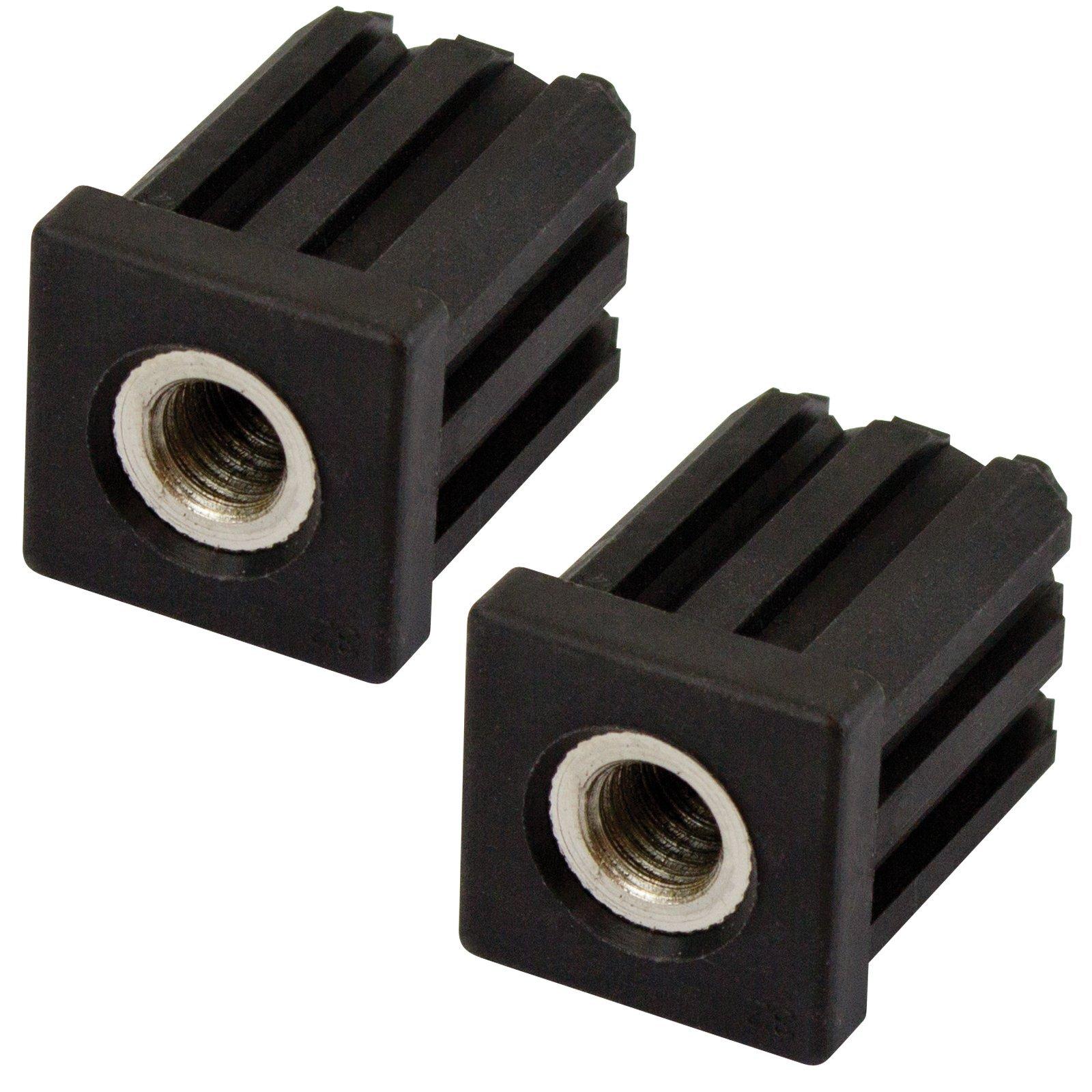 Richmond 32mm x M12 Square Threaded Tube Insert - 2 Pack