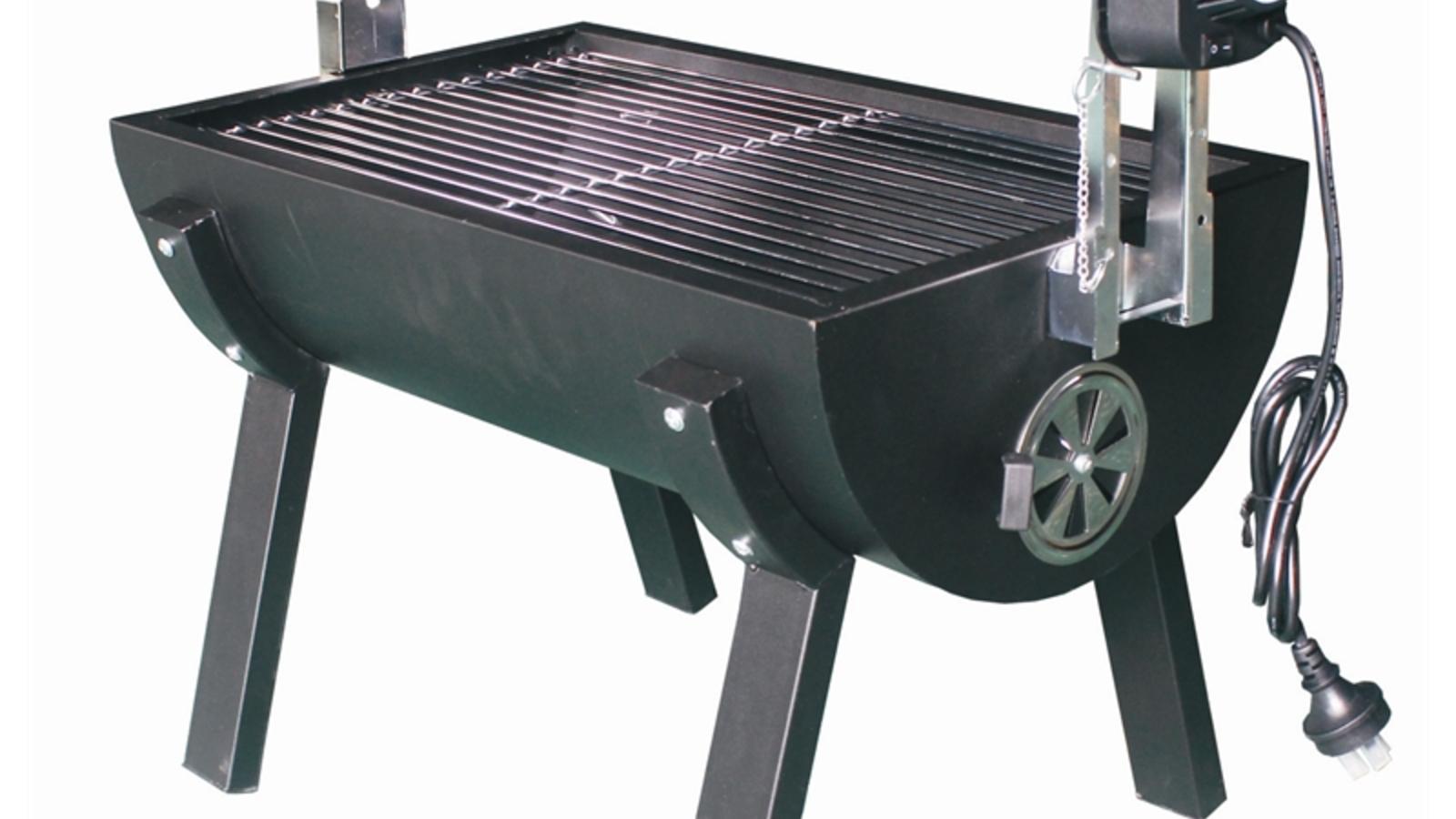 Spit roasting BBQ.