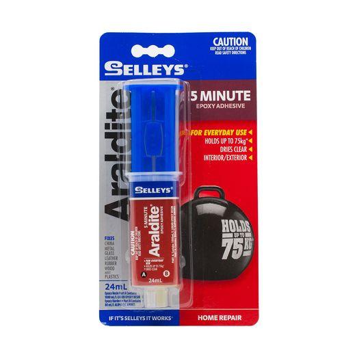 Selleys 24ml Araldite 5 Minute Epoxy Adhesive