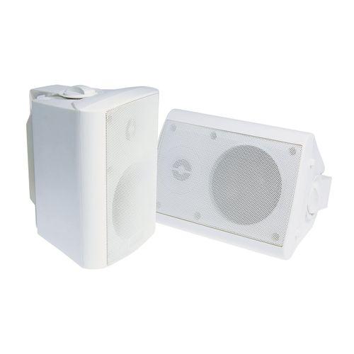"""TDJ 4"""" White 2-Way Indoor/Outdoor Universal Speakers"""