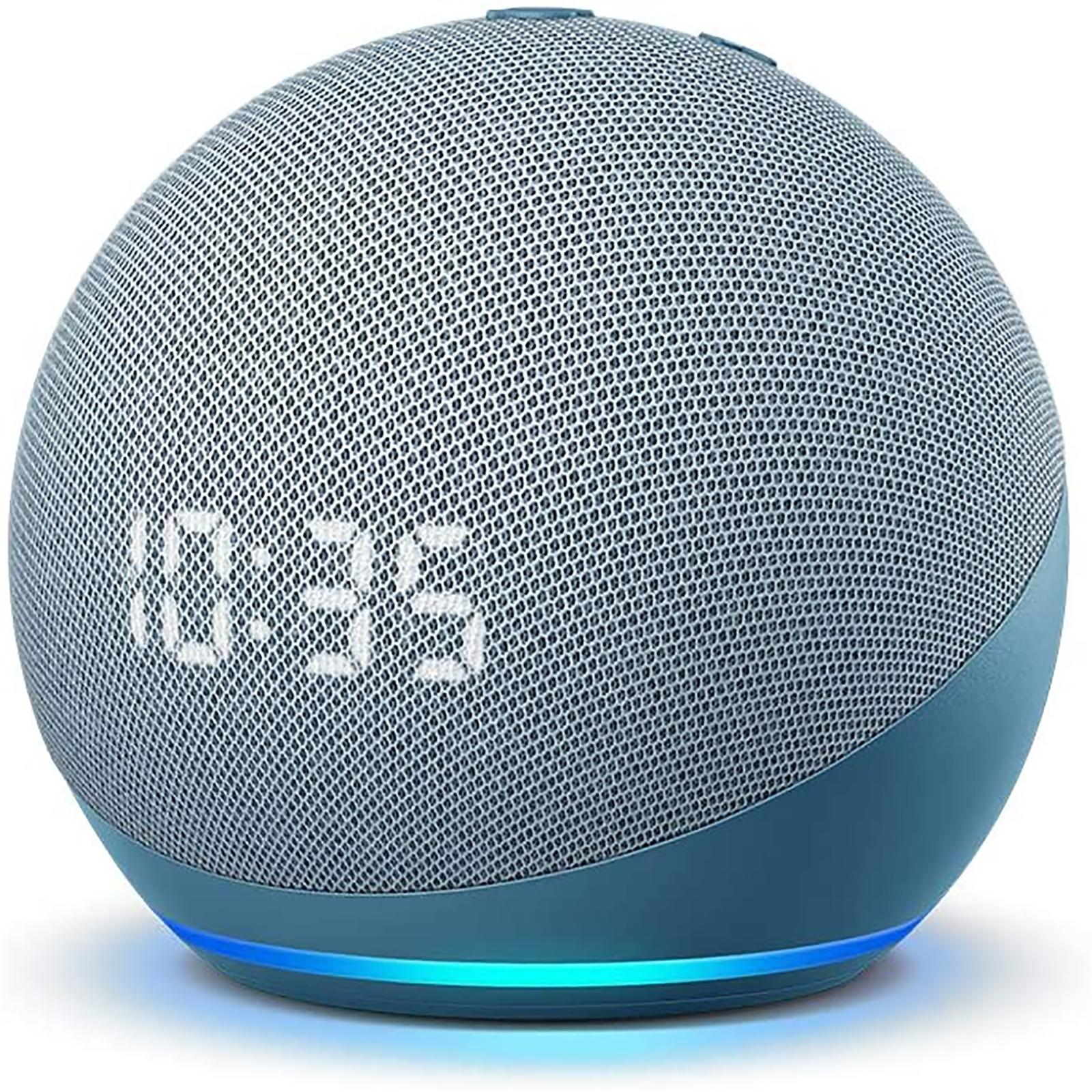 Amazon Twilight Blue 4th Generation Echo Dot With Clock And Alexa