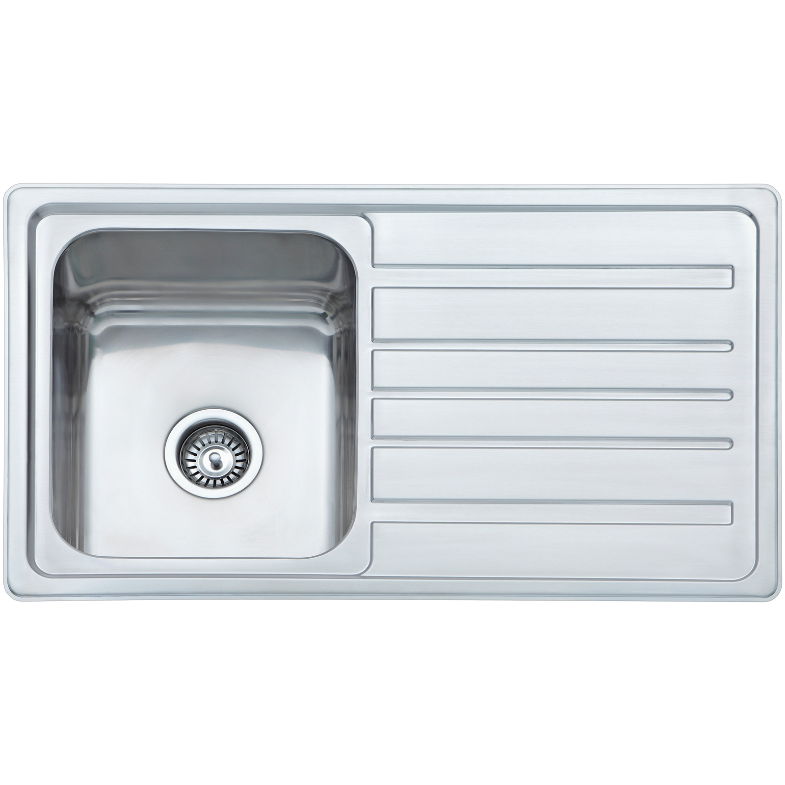 Mondella Stainless Steel 1 Bowl Concerto Sink With Drainer