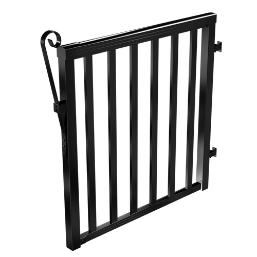 Peak Products 1000mm Black Aluminium Balustrade Wide Baluster Gate Kit
