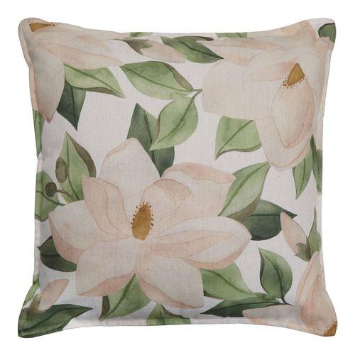 Magnolia Blush/Green Cushion
