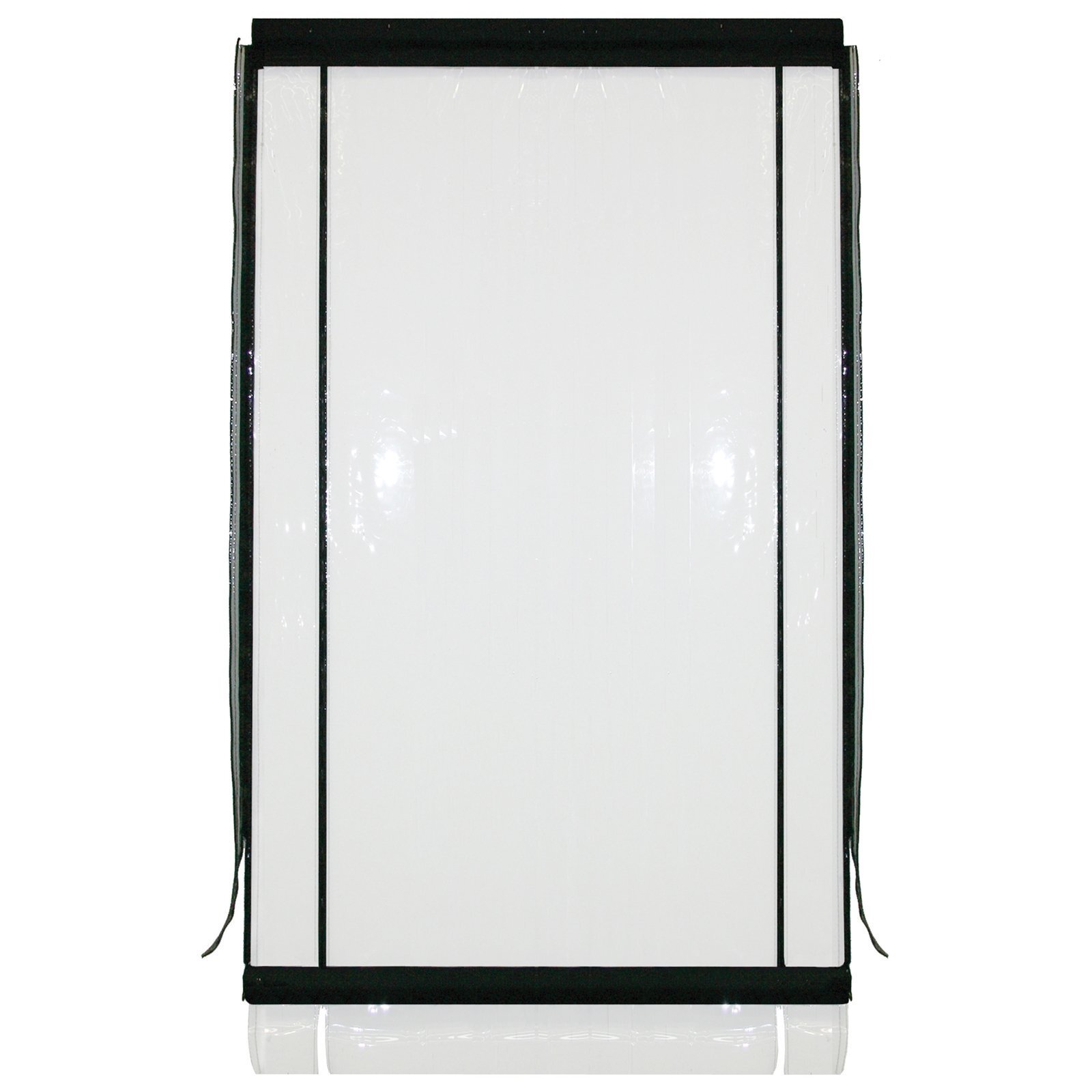 Bistro Blinds 0.75mm PVC Outdoor Blind - Clear / Black 1500mm x 2400mm