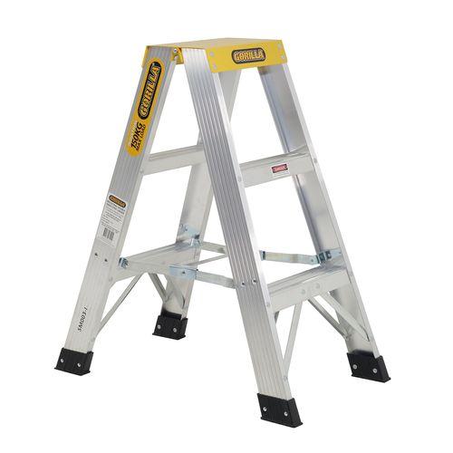 Gorilla 0.9m 150kg Aluminium Double Sided Step Ladder
