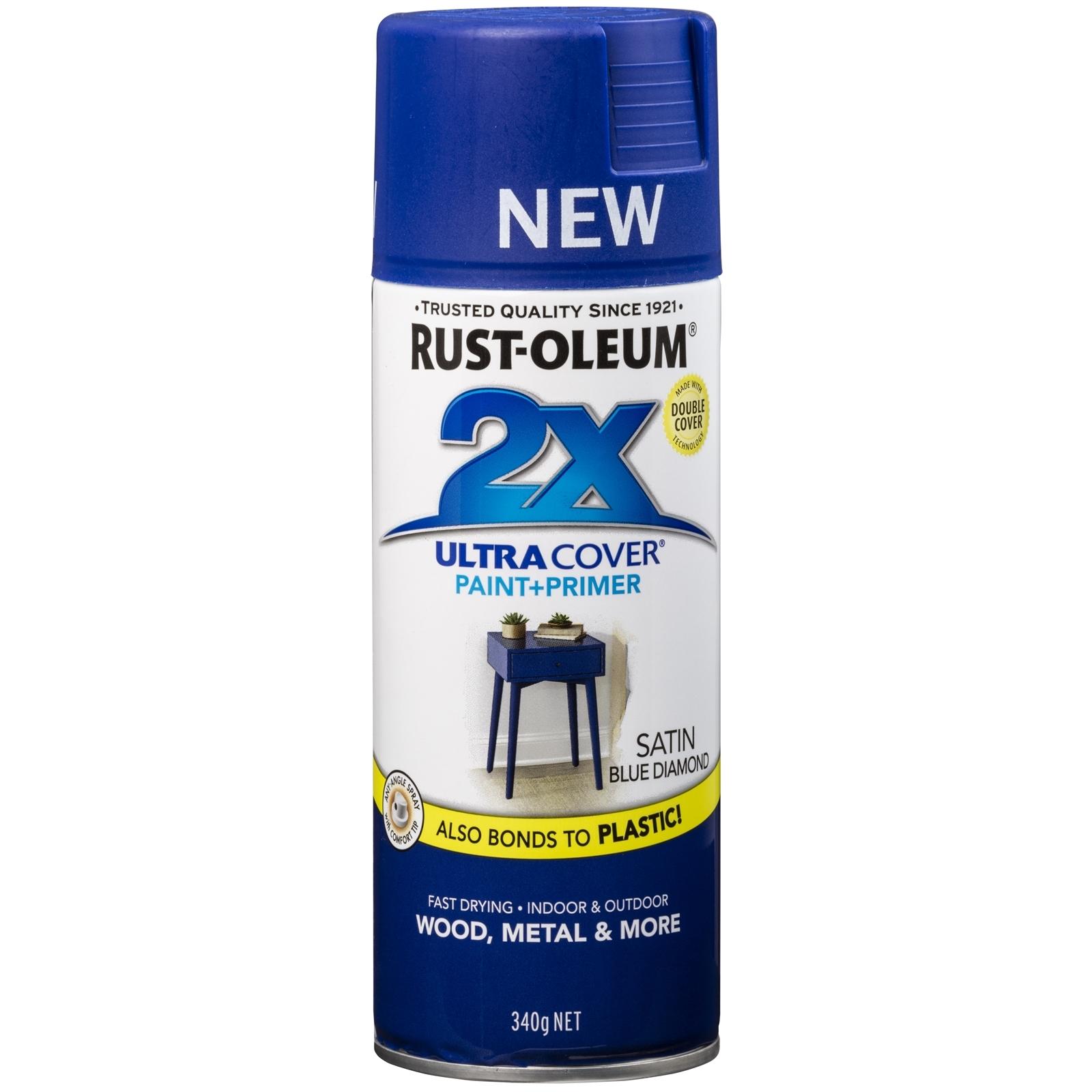 Rust-Oleum 340g 2X Ultra Cover Paint+Prime Satin Blue Diamond Spray Paint