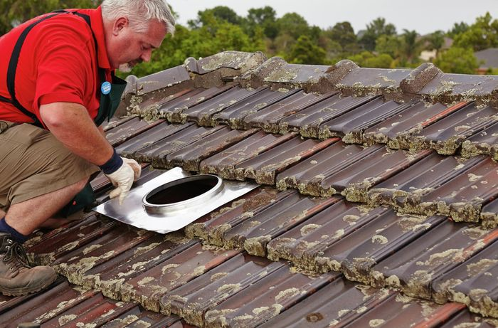 installing flashing for a roof vent