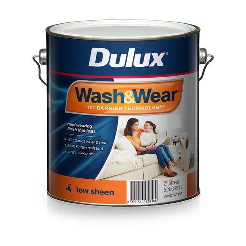 Dulux 2L Interior Paint Wash&Wear Low Sheen Vivid White