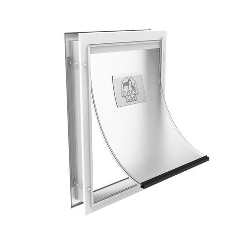 Hakuna Pets Large White Deluxe Aluminium Pet Door