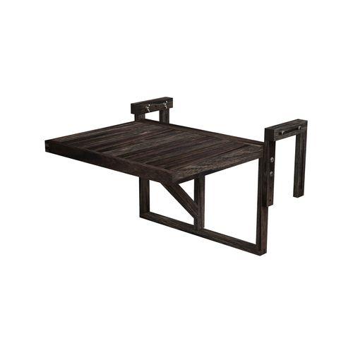 Interbuild 60x45 cm Espresso Stockholm Folding Balcony Table